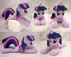 Princess Twilight Sparkle Lying Beanie by SewYouPlushieThings