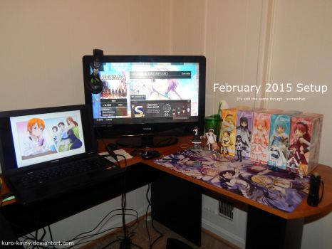 February 2015 - Gaming Computer Setup Thing by Kuro-Kinny