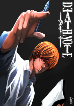 light yagami fanart by Clearmirror-StillH2O
