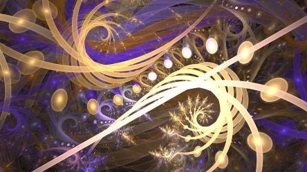 Gold and Purple Fantasy by crotafang