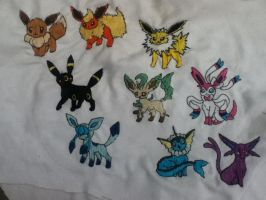 .:Eeveelutions Embroidery:. by EmbroideryMW101