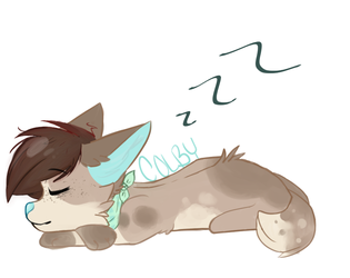 lazy pup by Artwolfiie