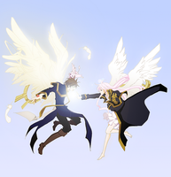 07-Ghost: Teito x Ouka. archangels by rinity