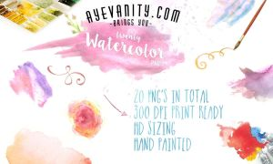 20 Hand painted Watercolor PNG's (Clipart) by OftheCrucified
