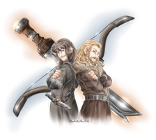 Sword and Bow by FlorideCuts