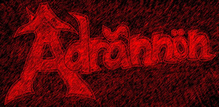 Adrannon logo v1, raining blood graphic pen filter by NocturN-444