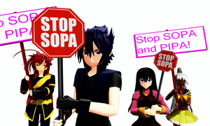 Stop SOPA and PIPA by RaikuHoshigami