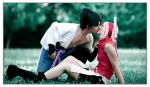 Cold grass and Hot kiss by Leox90