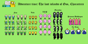 Adventure Time RPG overworlds by tebited15