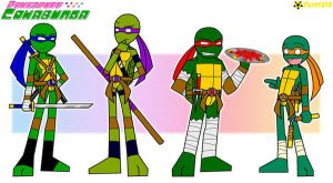 TMNT the PPC style by RoseMary1315