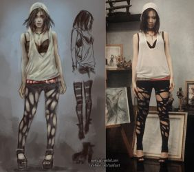 OOTD with ripped legging by NanFe
