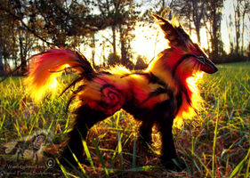 -SOLD- Hand Made Poseable FIRE FOX! by Wood-Splitter-Lee