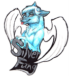 -T- Fursona Badge - Silver Fang by BenRusk