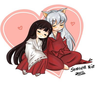 kikyo and inuyasha by keitenstudio