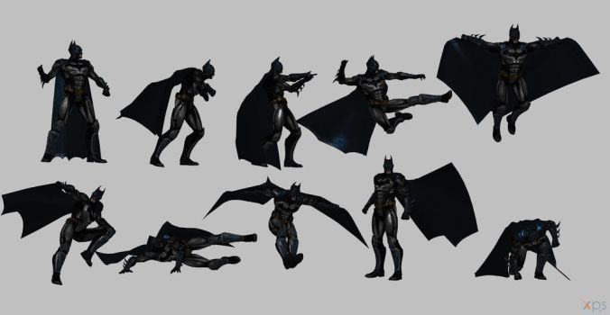 Batman injustice poses by Gizmochillin