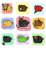 Pusheen Avengers by Yunnn