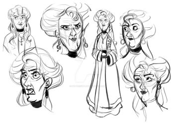 Abuela Sketches by buttercupLF