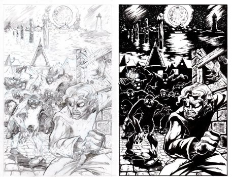 The Shadow Over Innsmouth Page 1 INKS by TCBaldwin