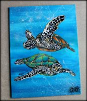 Turtle Painting by RechelleMancheART