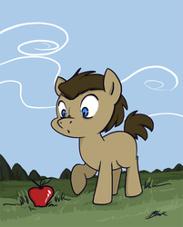 Little Doctor Whooves meets an apple by caycowa