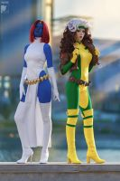 Mystique and Rogue by Kifir
