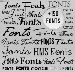 Fonts by Absolute-A