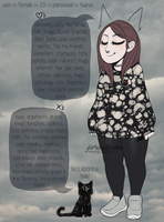 meet the artist, and her cat by byamby