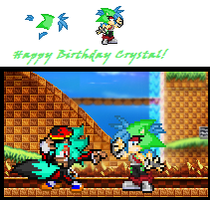 .::Happy Early Birthday Crystalhedgie!::. by FrostBurned-Soul