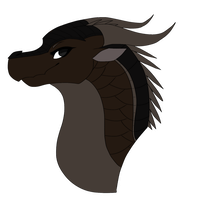 Melanistic MudWing Headshot AT #31 by Sahel-Solitude