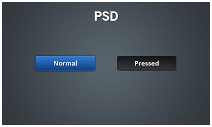Blue Button PSD by givesnofuck