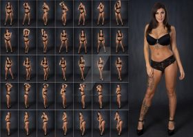 Stock: Rebecca Glam Body Chain Poses - 36 Images by stockphotosource