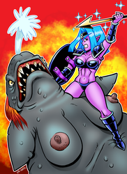 Wowslut The Landwhale Hunter by curtsibling
