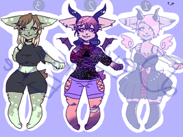 Furry adoptables! (CLOSED) [PRICES LOWERED!!] by OtakuTota