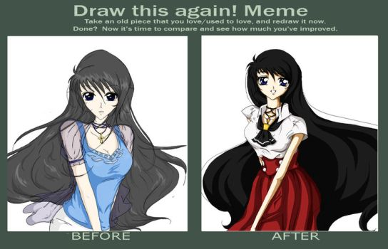 Meme before and after - Minami Hakako YYH OC by TeeveeTV