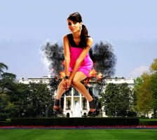 Giantess Victoria Justice First Lady by GiantessStudios101