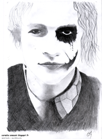 Heath Ledger / The Joker by Cornelia-Emeunir