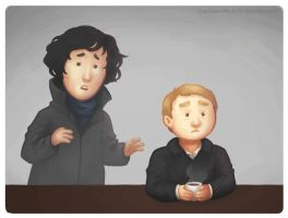 John and the coffee and the Sherlock by RandomMutiny