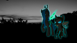 Chrysalis and her loyal servant... by LukasDeAudi