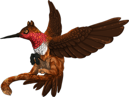 Crimson Humming Griffin by The-Below