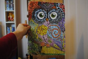 owl drawing by catrine13246