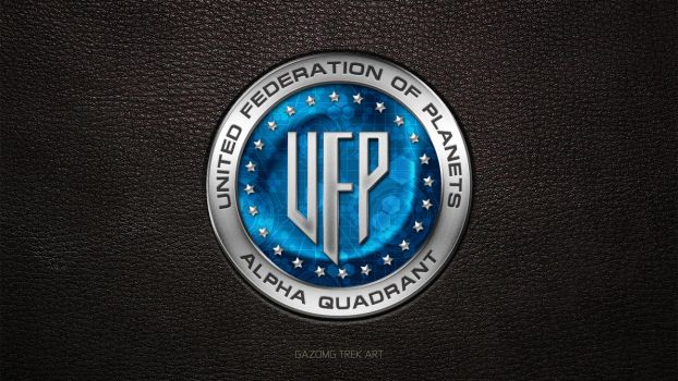 Star Trek UFP Alpha Quadrant Logo by gazomg