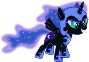 Nightmare Moon Filly by imageconstructor