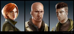 triple point - portraits by Yip-Lee