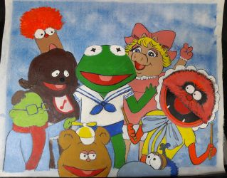 Muppet Babies acrylic painting by DoctorFantastic