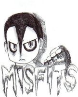Jerry Only from the Misfits by rottengrrl88