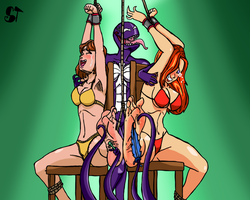 [Commission] Two Sexy Girls And A Fun Situation by SymbionTickles