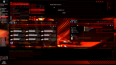 Sulaco Visual Style v0.15 red (Windows 7 theme) by nostro-fr