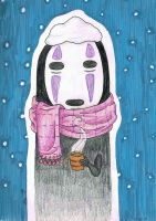 No Face in the Snow by XiaNumber14