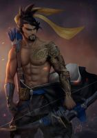 Hanzo - Overwatch by PoppyMinty