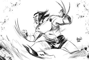 quick wolverine sketch by kevinmellon